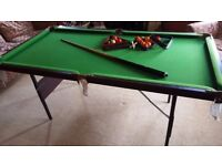 Pool and Snooker Table (6ft x 3ft)