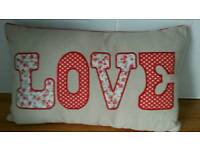 LOVE cushion (new) valentines day gift?
