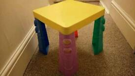Baby changing table + play table
