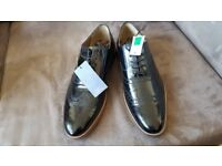Mens M&S Black Luxury Brogues Shoes Size UK 11 Normal Width Fitting new w/o Box