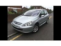 2005/05 PEUGEOT 307 1.6 S 5 DOORS YEARS MOT 2 KEEPERS