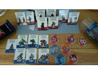 Disney infinity 1.0 2.0 3.0 Discs and character cards.