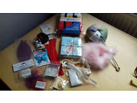 Bag of haberdashery and craft items