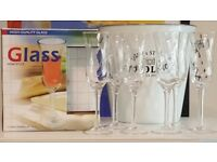 Champagne glasses - 2 lots of 6 available