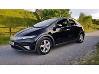 2008 HONDA CIVIC ES I-CTDI BLACK PANORAMIC ROOF FULL SERVICE HISTORY