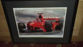 EDDIE IRVINE Signed Limited Edition print 22/100