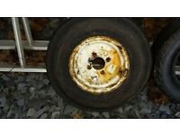 "10 "" trailer wheel and tyre 4 stud"