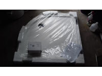 Low profile Quadrant Shower Tray (900mm) and waste - new