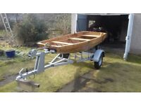 Brand New Clinker Fishing Boat/Dinghy and Trailer