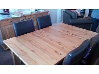 X 6 Seater Pine Table - Ikea**QUICK SALE**