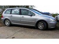 Peugeot 307 2.0 Hdi estate complete car spares or repair nice alloys starts and drives