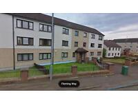 3 bedroom flat to let in popular area of hamilton