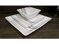 23 piece dining plate set