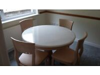 Marble effect dining table & 4 chairs
