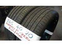 MATCHING PAIR 245 40 20 PIRELLI P-ZERO 7-8MM TREAD £100 PAIR sup & fitd loads more txt