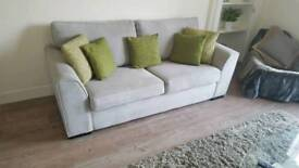 *SOLD PENDING COLLECTION* 3 seater sofa and footstool 3 months old