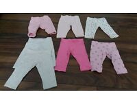 Baby girl leggings and joggers 0-3 months