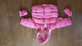Next baby girls winter coat. Size 9-12 months.