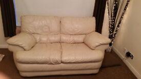2 x 2 seater cream sofa FREE