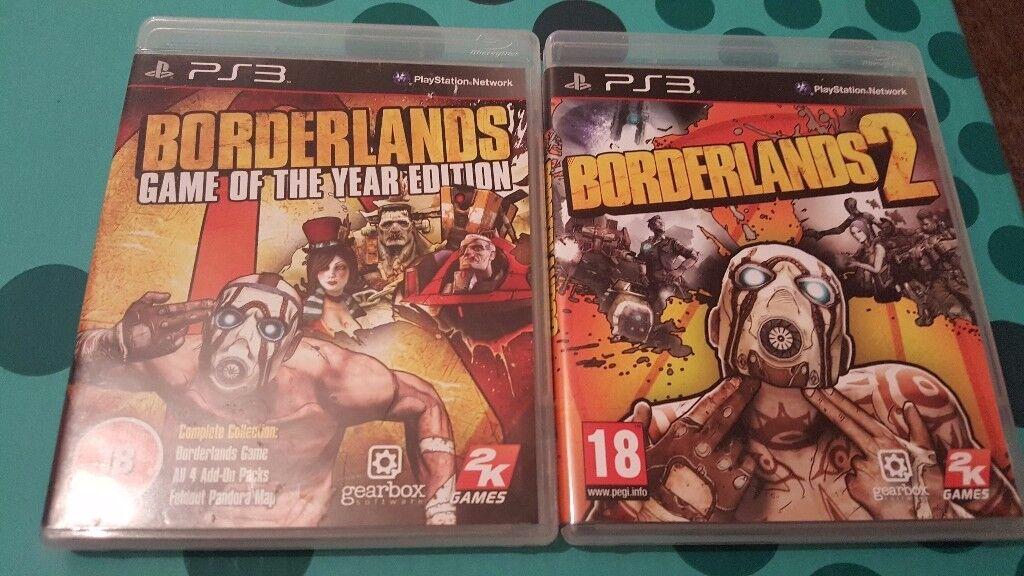Borderlands GOTY Edition and Borderlands 2 for Playstation 3