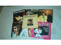 """Elvis presley record collection. 7 x 12"""" lps,very good condition"""