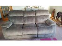 Reclinining 3 seater sofa and chair