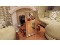 Vintage Retro Style Large Wall Over Mantle Mirror