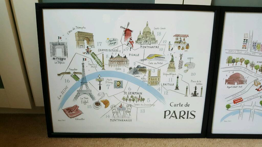 London and Paris maps watercolour and line prints by Alice Tait | in ...