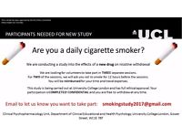 Research Volunteers for study about smoking abstinence [preferably men]