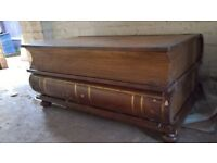 Book Shaped Chest Storage Cabinet Antique Vintage Style CHEAP REFURB