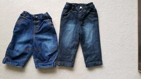 2 x jeans for 3 - 6 month