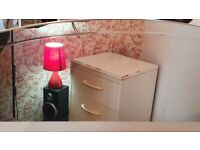 Vintage dressing table and 2 set of drawers