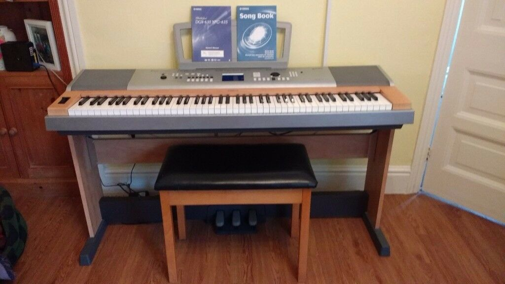 yamaha portable grand dgx 630 ypg 635 electric piano