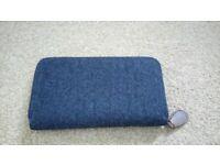Excellent condition ladies blue material wallet purse