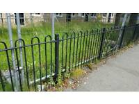 Solid metal fencing