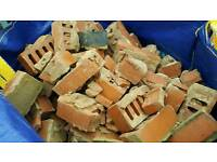 Broken block and bricks