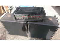 Carlsbro Cobra PA amp and speakers
