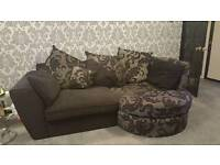 3 seater sofa,chair & swivel footstall
