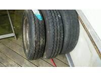 Van tyres x 3