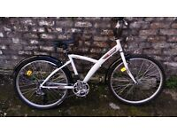 HYBRID BIKE (B'TWIN ORIGINAL 300) - WHITE