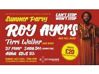 one Roy Ayers ticket Sun 24/7 Nottingham