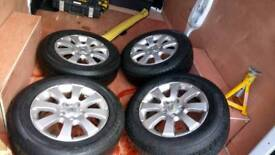 "4x Vauxhall astra 15"" alloys"