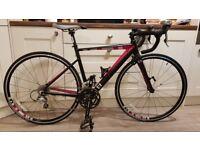 Ladies road bike. Alloy frame. Carbon fibre forks. 20 speed.