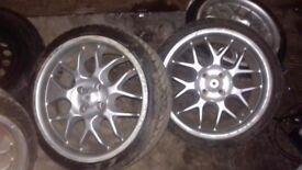 Alloy wheels for sale 18 inches 4 new tyres