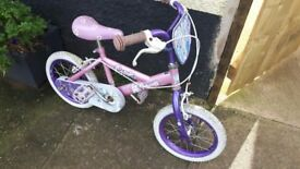 14 inch wheeled cosmic princess girls bike