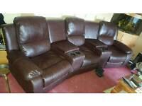 Cinema style reclining sofa MUST GO