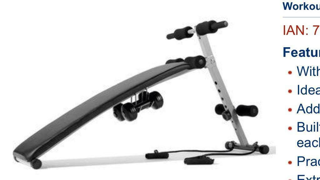 Workout bench (foldable)