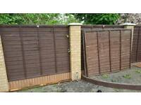 2 fencing panels 1.5x1.8m