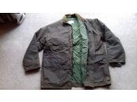 Jacket Mens Greenham waterproof wax jacket NEW