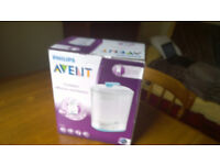 Philips AVENT 2-in-1 Electric Steam Bottle Steriliser / BBA FREE with Bonus